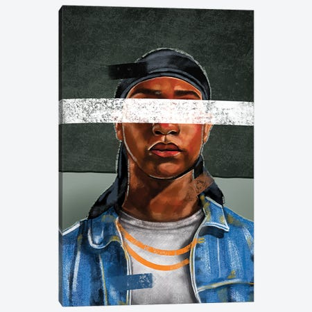 Durag, No Bonnet Canvas Print #DMQ124} by Domonique Brown Canvas Artwork