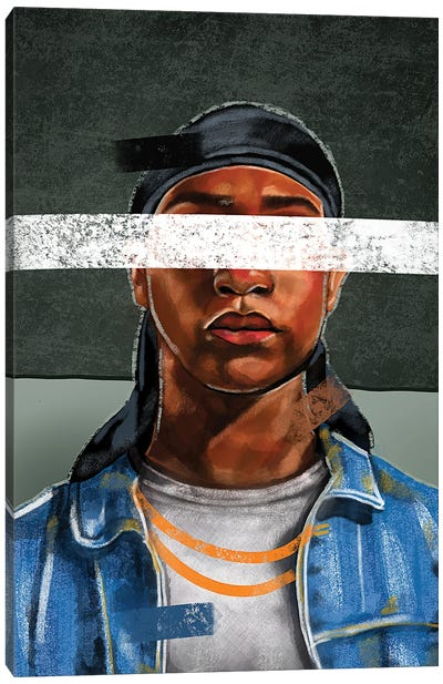 Durag, No Bonnet Canvas Art Print