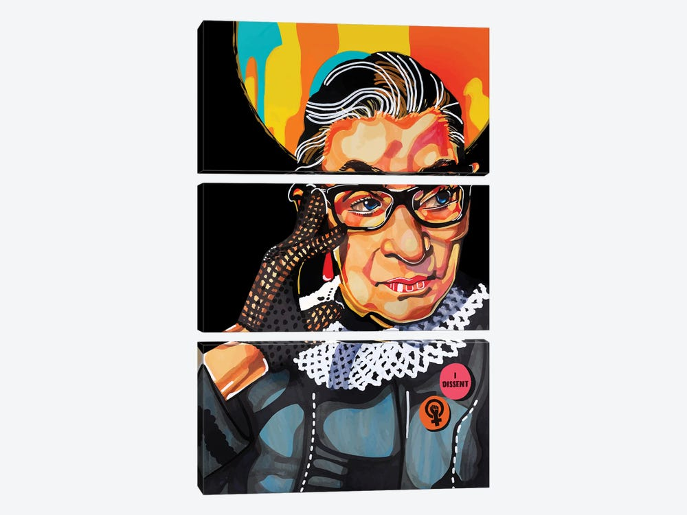 Ruth Bader Ginsburg by Domonique Brown 3-piece Canvas Artwork