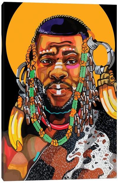 King Is Black Canvas Art Print