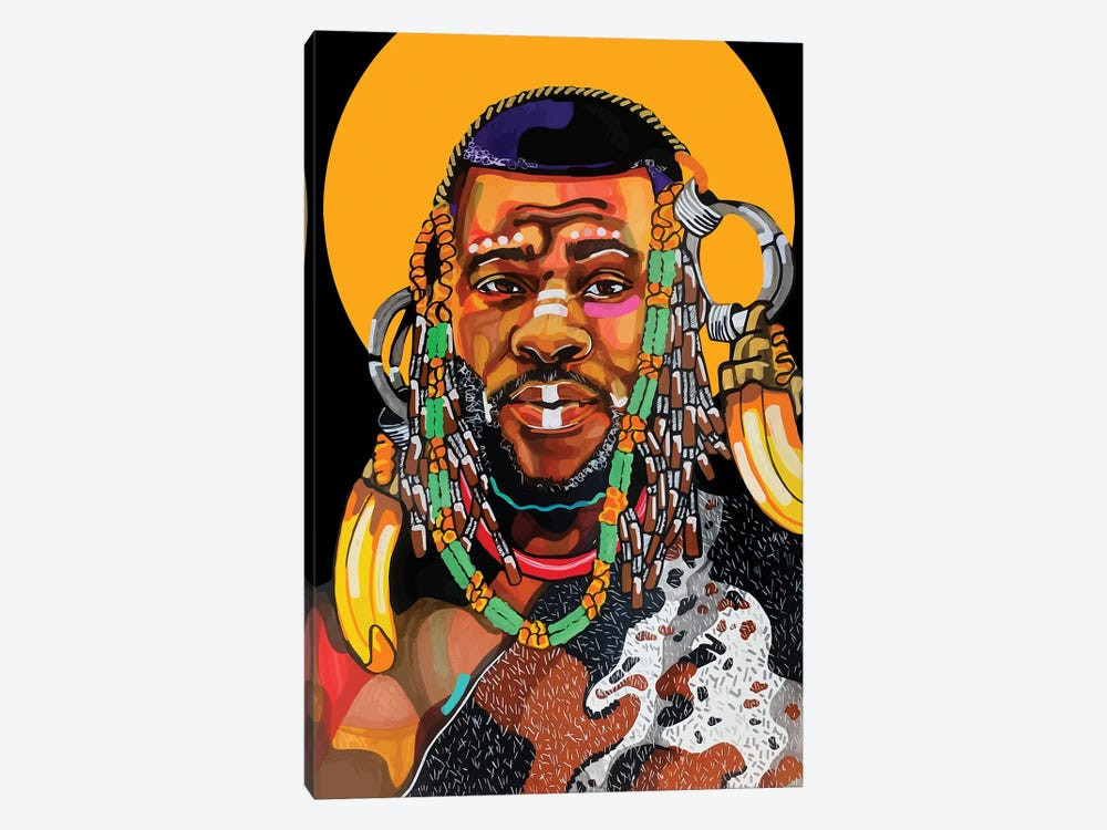 King Is Black by Domonique Brown 1-piece Canvas Art Print