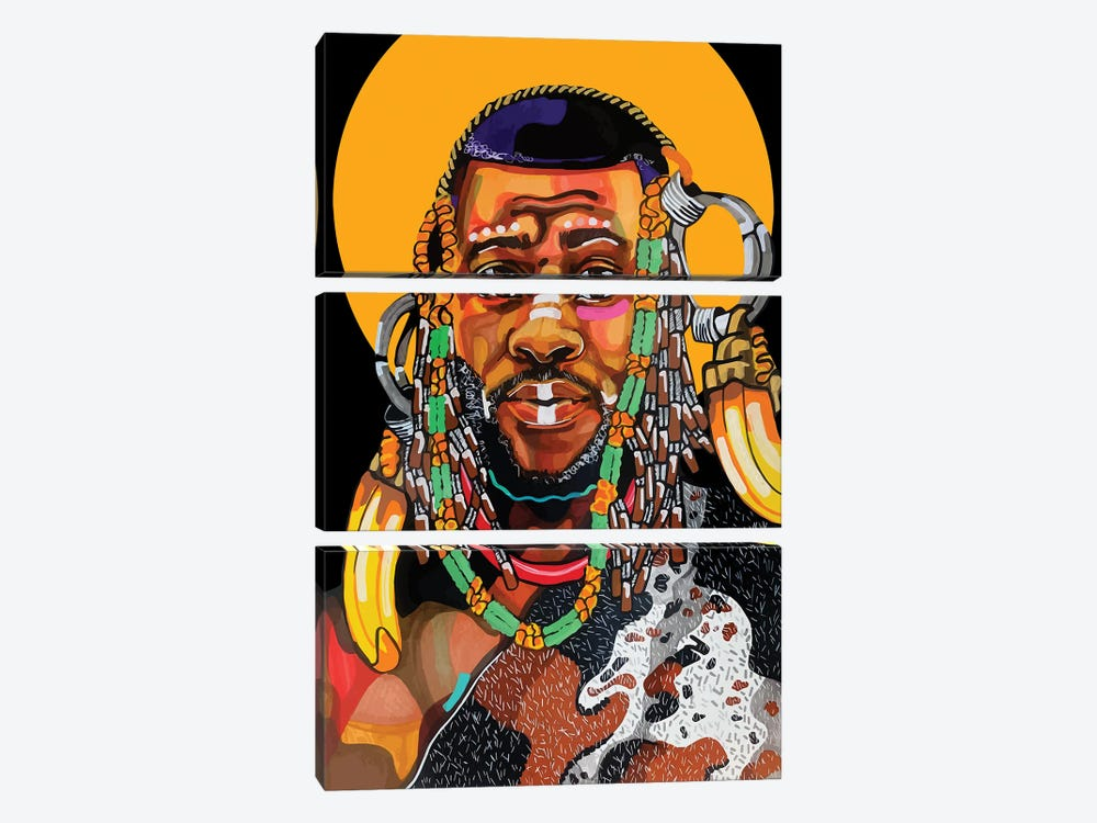 King Is Black by Domonique Brown 3-piece Art Print