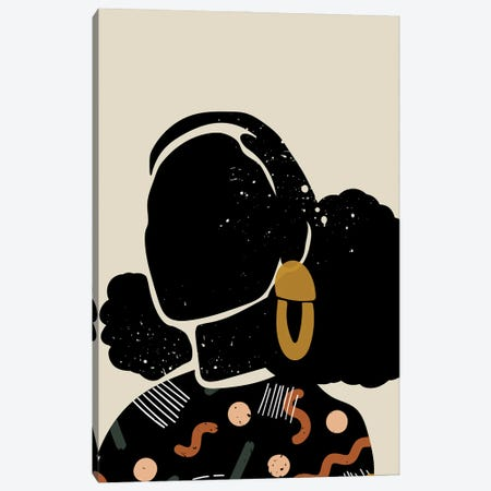 Black Hair IV Canvas Print #DMQ12} by Domonique Brown Canvas Artwork