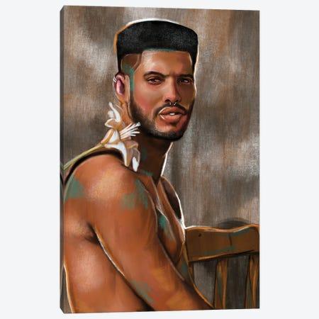 No Fragile Masculinity Canvas Print #DMQ132} by Domonique Brown Canvas Artwork