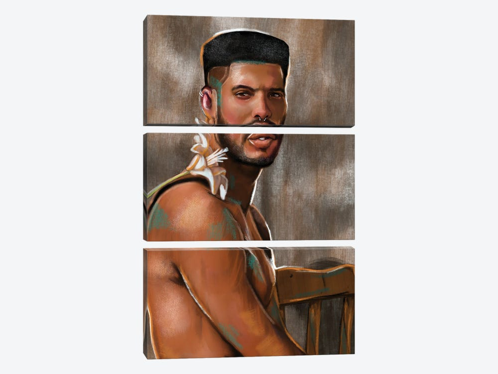 No Fragile Masculinity by Domonique Brown 3-piece Canvas Artwork