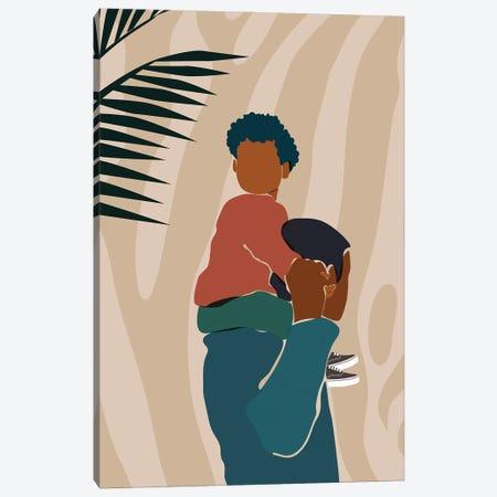 Father Son Duo Canvas Print #DMQ134} by Domonique Brown Canvas Art Print
