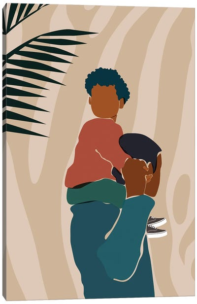 Father Son Duo Canvas Art Print