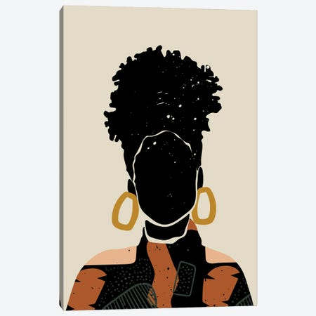 Black Hair No. 14 Canvas Print #DMQ136} by Domonique Brown Canvas Print