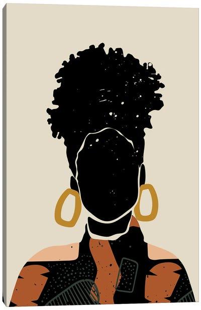 Black Hair No. 14 Canvas Art Print