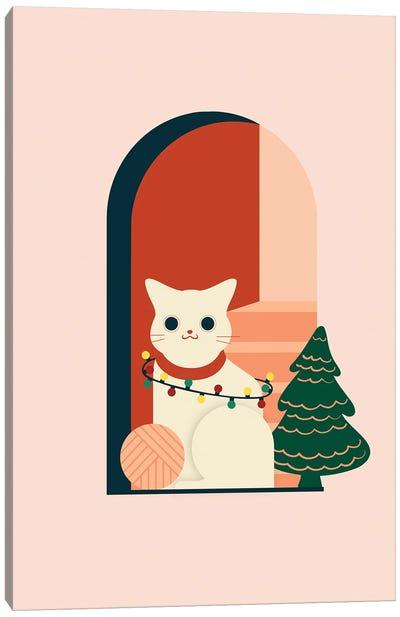 Christmas Cat Canvas Art Print