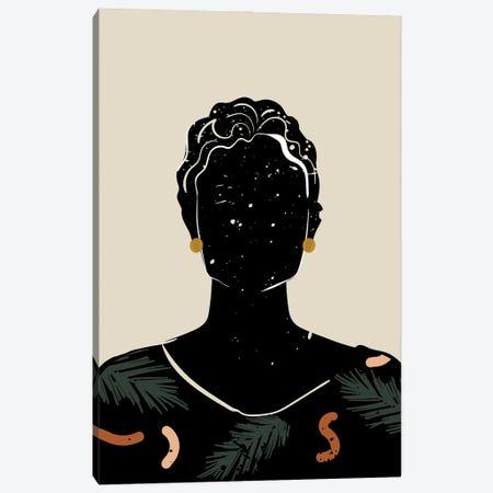 Black Hair V Canvas Print #DMQ13} by Domonique Brown Canvas Art