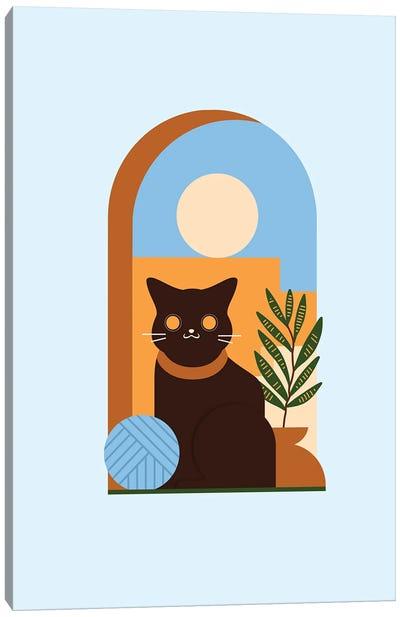 Teracotta Cat Canvas Art Print