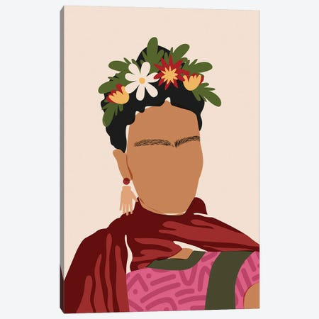 Frida Kahlo Canvas Print #DMQ147} by Domonique Brown Canvas Artwork