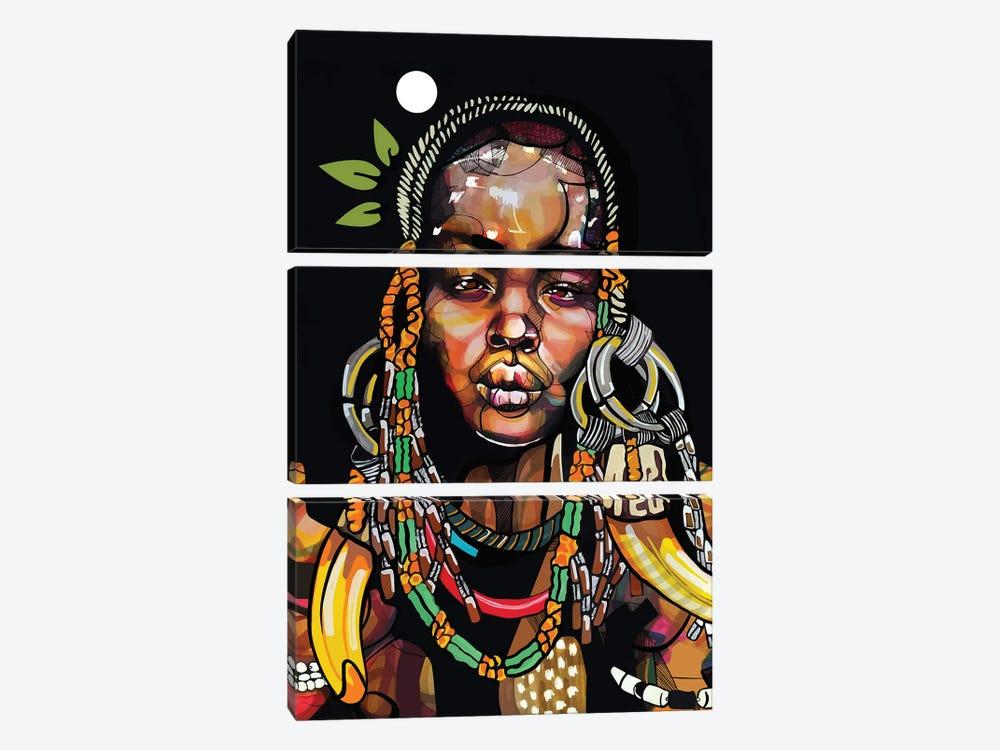 Africa '93 by Domonique Brown 3-piece Canvas Art Print