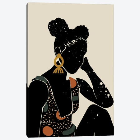Black Hair VI Canvas Print #DMQ14} by Domonique Brown Canvas Art Print