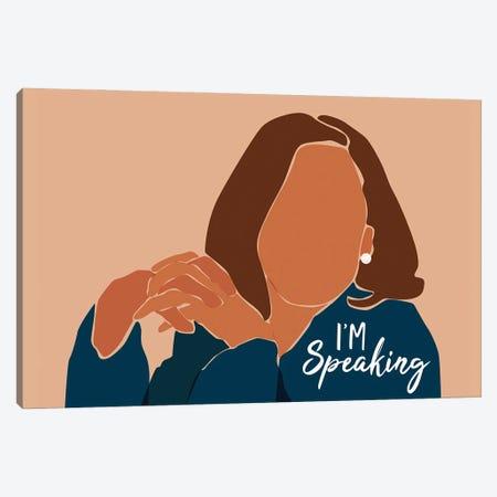 I'm Speaking Canvas Print #DMQ152} by Domonique Brown Canvas Art