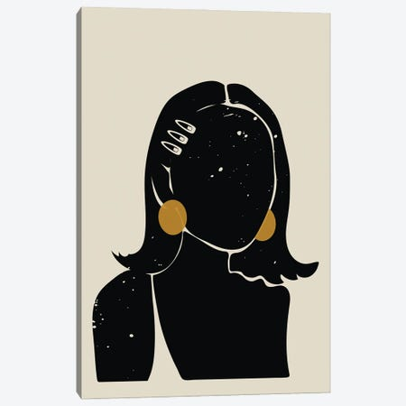 Black Hair No. 16 Canvas Print #DMQ153} by Domonique Brown Canvas Artwork