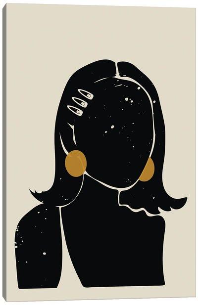 Black Hair No. 16 Canvas Art Print
