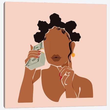 Mo' Money, No Problems Canvas Print #DMQ154} by Domonique Brown Canvas Print