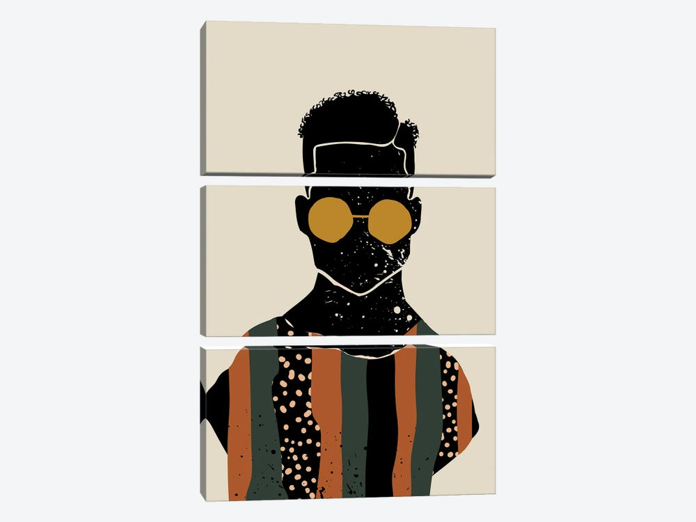 Black Hair VII by Domonique Brown 3-piece Canvas Artwork