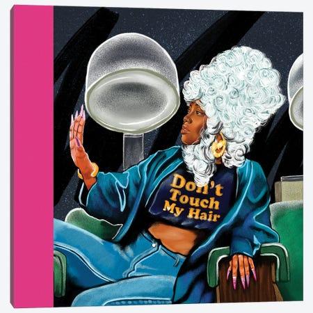 Don't Touch My Hair Canvas Print #DMQ160} by Domonique Brown Art Print