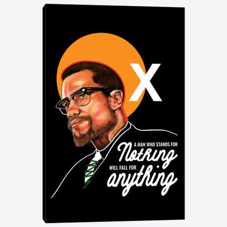 Malcolm X Canvas Print #DMQ162} by Domonique Brown Art Print