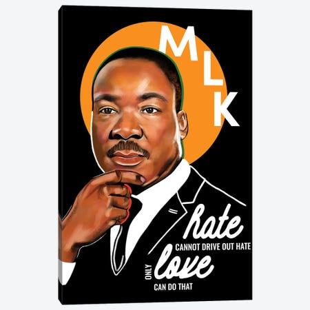 Martin Luther King Jr. Canvas Print #DMQ164} by Domonique Brown Canvas Artwork