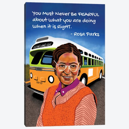 Rosa Parks (Hi-Rez) Canvas Print #DMQ169} by Domonique Brown Canvas Print