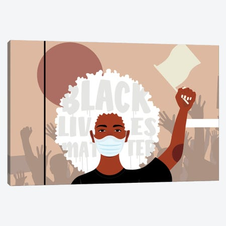 Protest I Canvas Print #DMQ16} by Domonique Brown Art Print