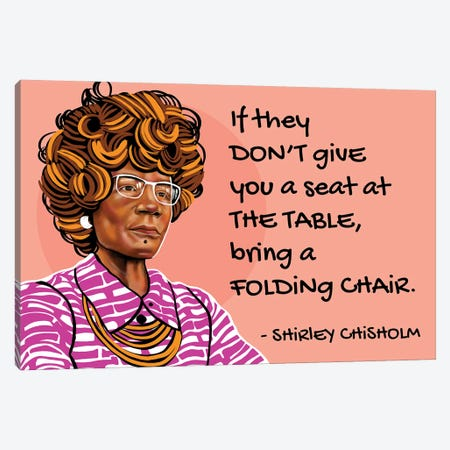Shirley Chisholm Canvas Print #DMQ172} by Domonique Brown Canvas Artwork