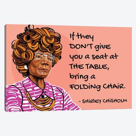 Shirley Chisholm Canvas Print #DMQ172} by Domonique Brown Canvas Artwork