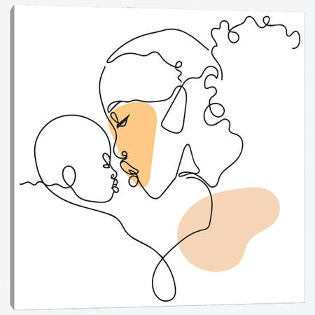 Mother's Love Canvas Print #DMQ186} by Domonique Brown Canvas Wall Art