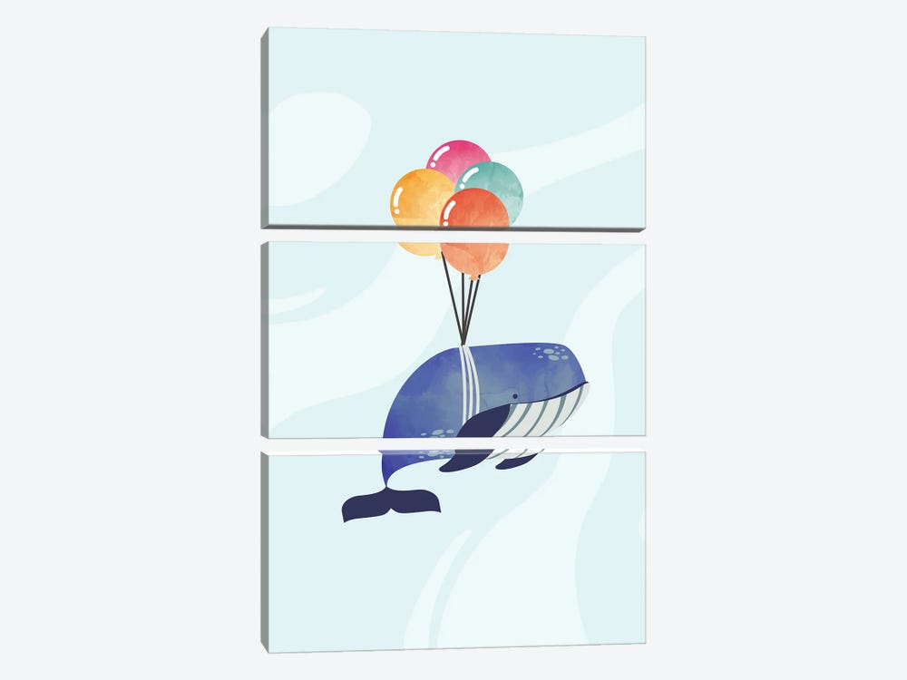 When Whales Fly by Domonique Brown 3-piece Canvas Artwork