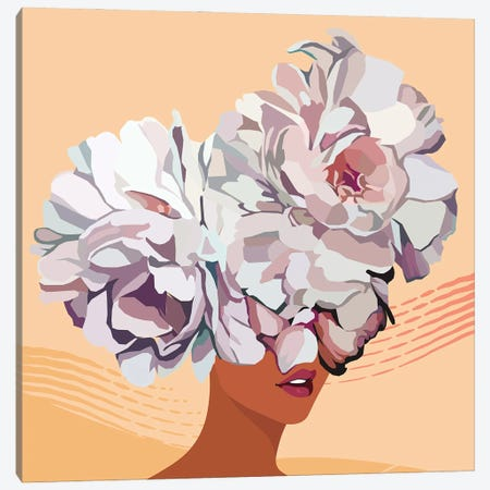 No Flower Boy Canvas Print #DMQ18} by Domonique Brown Canvas Wall Art