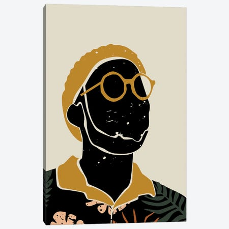 Black Hair VIII Canvas Print #DMQ19} by Domonique Brown Canvas Artwork