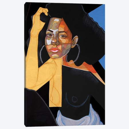 Black Picasso Canvas Print #DMQ1} by Domonique Brown Art Print