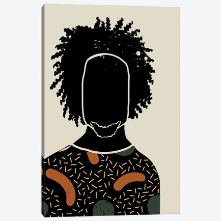 Black Hair IX Canvas Print #DMQ20} by Domonique Brown Canvas Print