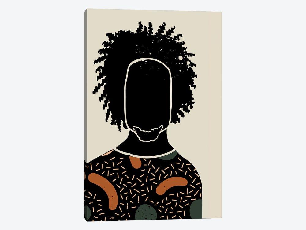 Black Hair IX by Domonique Brown 1-piece Canvas Wall Art