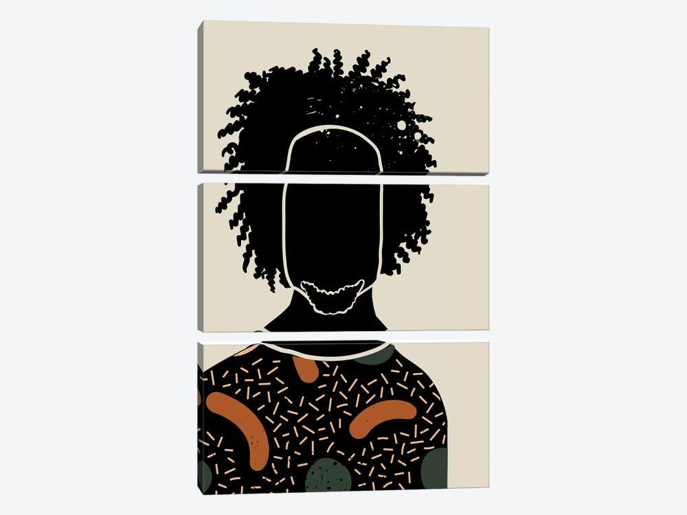 Black Hair IX by Domonique Brown 3-piece Canvas Art
