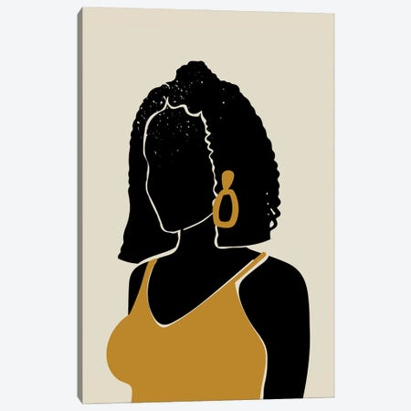Black Hair XI Canvas Print #DMQ22} by Domonique Brown Canvas Print