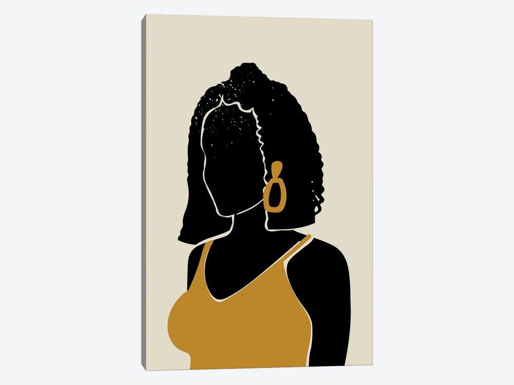 Black Hair XI by Domonique Brown 1-piece Canvas Art