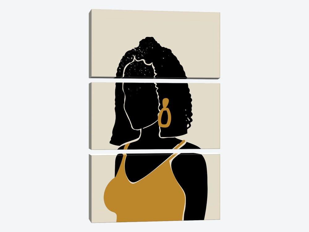 Black Hair XI by Domonique Brown 3-piece Canvas Artwork