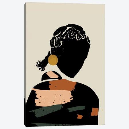 Black Hair XII Canvas Print #DMQ23} by Domonique Brown Canvas Art Print