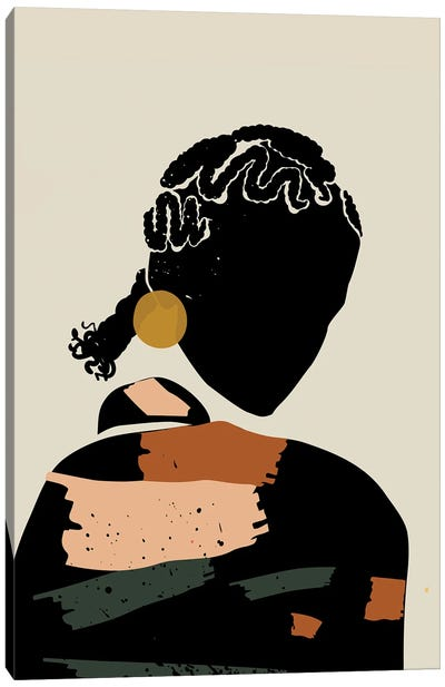 Black Hair XII Canvas Art Print
