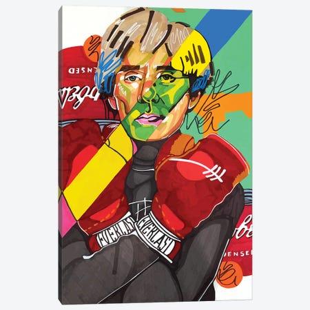 Andy Warhol Canvas Print #DMQ2} by Domonique Brown Art Print