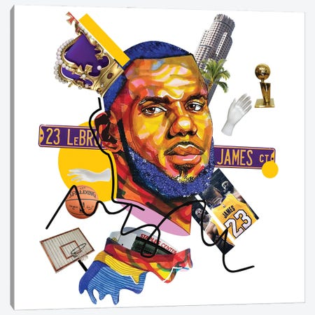 Lebron James 3-Piece Canvas #DMQ31} by Domonique Brown Canvas Artwork