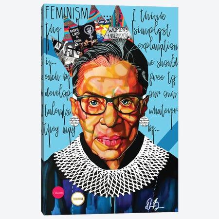 Ruth Ginsburg Canvas Print #DMQ32} by Domonique Brown Canvas Wall Art