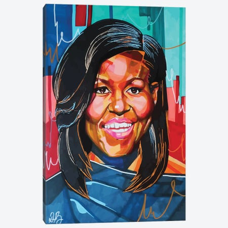 Michelle Obama Canvas Print #DMQ33} by Domonique Brown Canvas Wall Art