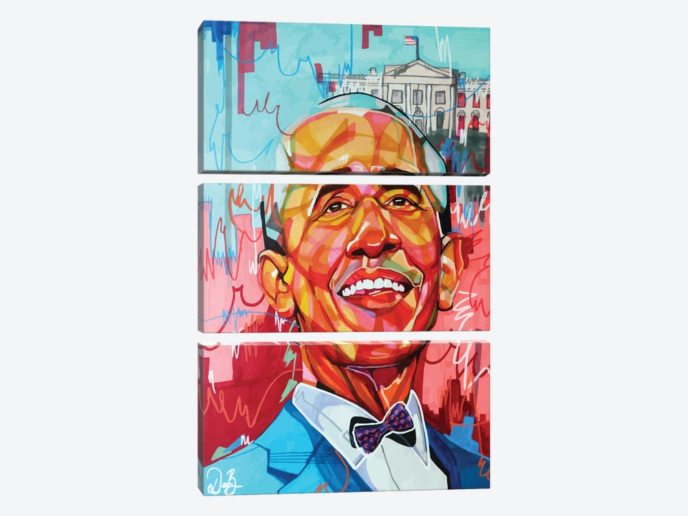 Barack Obama by Domonique Brown 3-piece Canvas Art Print
