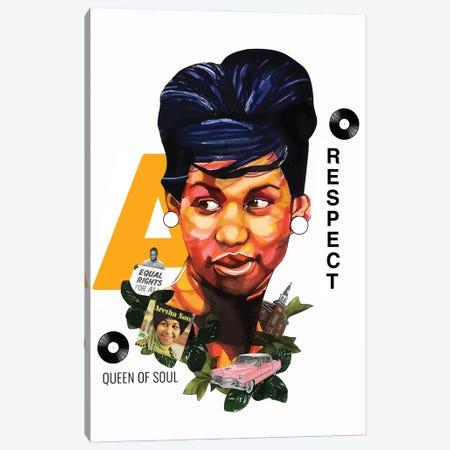 Aretha Franklin Canvas Print #DMQ36} by Domonique Brown Canvas Print